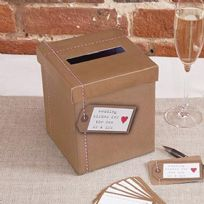 Just My Type Vintage Design Wedding Wishes Post Box